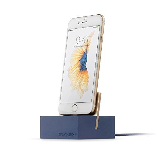 Native Union Dock+ per iPhone o iPad - Stazione di Ricarica Zavorrata con Cavo Lightning Rinforzato - Compatibile con la Maggior Parte dei Dispositivi Apple Lightning