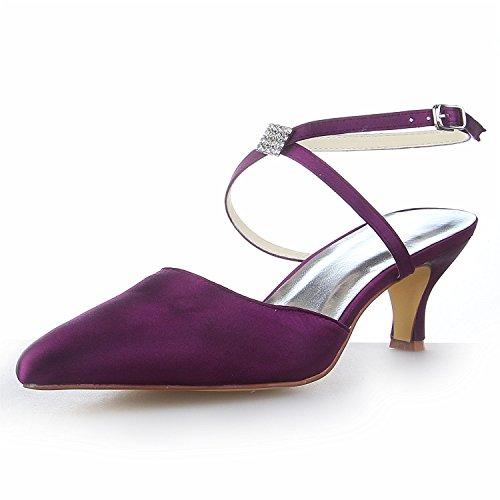 JIA JIA Zapatos de Novia de Las Mujeres 5354 Punta del Pie...