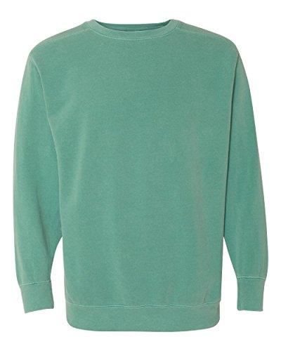 Comfort Colors Men's Garment-Dyed Crewneck Sweatshirt, Seafoam, XL