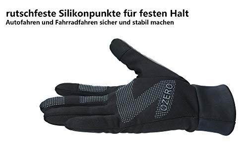 OZERO Touchscreen Winterhandschuhe, Thermo Fahrradhandschuhe & Laufhandschuhe für Herren und Damen - 4