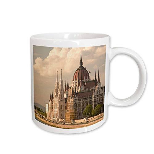3dRose Tasse 81914_ 2Parlament Gebäude, Donau, Budapest Ungarn EU13sws0051Stuart Westmorland Keramik Tasse, 15-Ounce