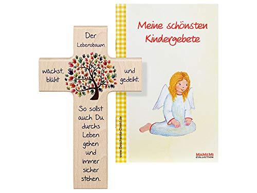 MaMeMi Kinder- Holzkreuz: 'Lebensbaum' 15 cm