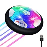 PZ SPORTS Hover Soccer Ball for Kids - Rechargeable Air Power Floating Soccer Ball with LED Lights and Foam Bumper - Indoor and Outdoor Toy for Boys and Girls, Ages 3+