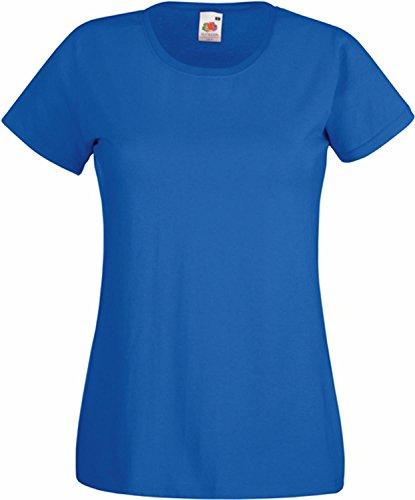 """Basic T-Shirt \""""Valueweight\"""" - für Damen Farbe royal Größe L"""