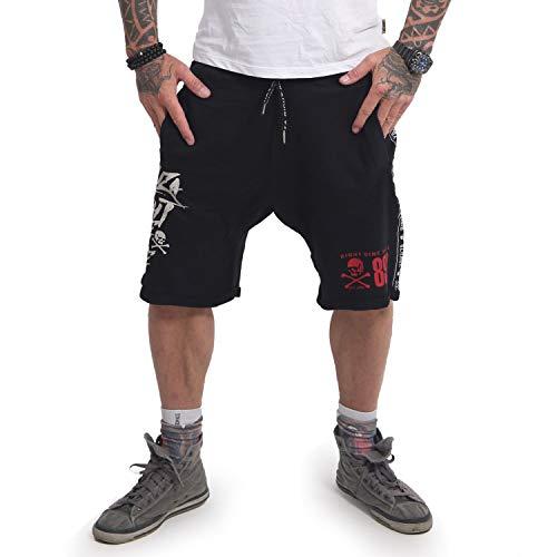 Yakuza Herren Track Tape Sweat Shorts, Schwarz, L