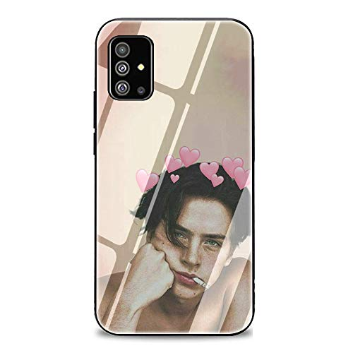 Cole Sprouse Riverdale Tempered Glass Phone Case Cover for Samsung Galaxy A10 A20 A30 A40 A50 A70 A51 A71 A81 Note 8 9 10Lite 10Plus (G3,for Samsung A10)