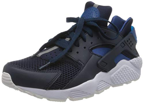 Nike Men's AIR Huarache Trainers, Blue Obsidian White Pure Platinum Gym Blue 420, 6.5 UK 40.5 EU