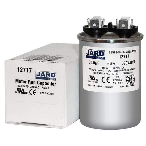 Motor Run Capacitor Round 30 uf MFD 370 Volt VAC 12717 (Original Version)