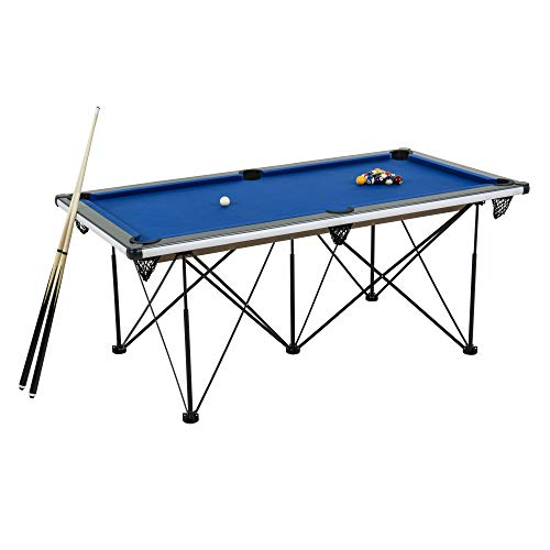Cheapest Price! Triumph Sports 6' Portable Pop Up Folding Pool/Billiard Table with Folding Legs, I...