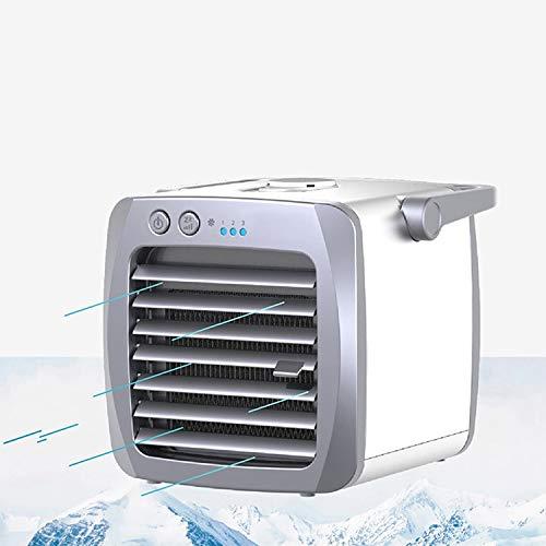 YEYOUCAI Mini refrigerador portátil del aire acondicionado del ventilador de la refrigeración USB del hogar