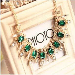 Shukun ketting ketting ketting multi-cut kristal item smaragd luxe (2 stuks)