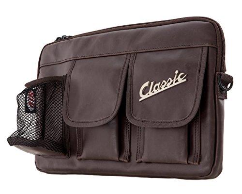Bolsa SIP Classic para maletero/guantera, para Vespa 360 x 210 x 30 mm, imitación de piel, color marrón