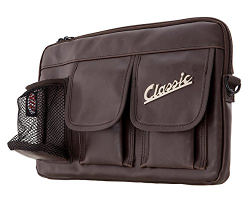 Tasche SIP Classic, für Gepäckfach/Handschuhfach, für Vespa 360x210x30 mm, Echt-Leder Imitat, braun