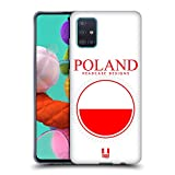 Head Case Designs Fahne Polands Fahne Flicken 2 Soft Gel Huelle kompatibel mit Samsung Galaxy A51 (2019)