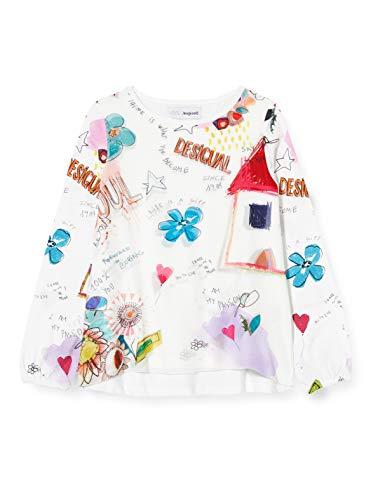 Desigual TS_Gracia Camiseta, Blanco, 11/12 para Niñas