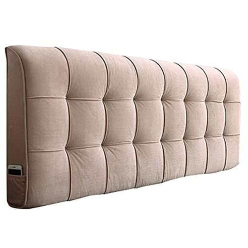 LXLIGHTS sänggavel läskudde, ryggstöd, installation utan sänggavel bekväm tygsvamp är mjuk förvaringsväska 5 färger, 5 storlekar anpassningsbar (färg: Beige, storlek: 180 x 58 x 10 cm)