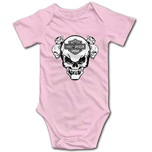 Body de bebé Harley Davidson Logo mameluco infantil escalada ropa divertido mono trajes, 12 meses Rosa rosa 2 mes