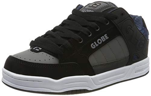Globe Herren Tilt Skateboardschuhe, Schwarz (Black/Blue Knit 20410), 47 EU