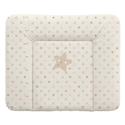 Babycalin Materasso Fasciatoio, motivo stelle, beige, 75x 85cm, Taglia XXL–con metro stampato