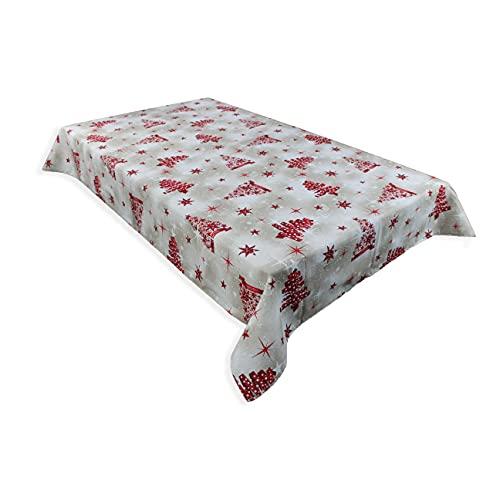 Navidad Decoración Mesa Mantel Redondo Marca Acomoda Textil