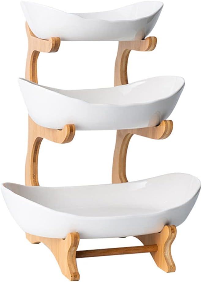 YARNOW Max 59% OFF Three- layer Sushi Fruit Basket Dishes Di Free shipping on posting reviews Ceramic Storage