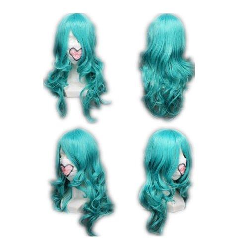 COSPLAZA Cosplay Wig Kostüme Perücke Sailor Moon Sailor Neptune lang Blau Haare