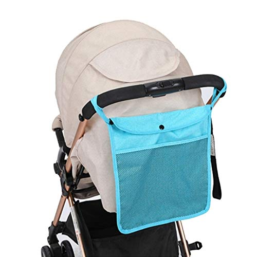 Read About Strollers Accessories Baby Trolley Net Bag Storage Bag Universal Baby Care(Blue) Baby Ite...