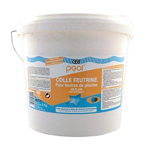 GEB - Réparation Piscine - Colle Feutrine Piscine Pool Seau 5 kg
