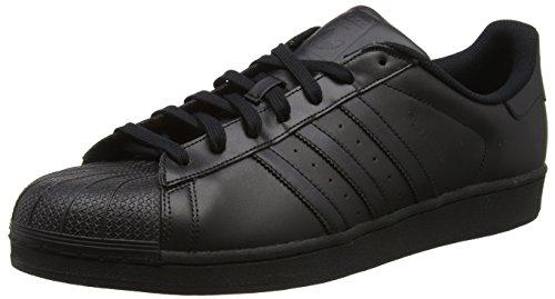 adidas Superstar Herren Sneakers,Schwarz, 36 EU