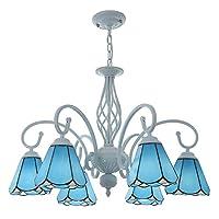 ティファニースタイルのシャンデリア、ステンドグラスの天井の照明器具、ヴィンテージペンダントハンギングランプの寝室のリビングルームダイニングルームレストラン[エネルギークラスA ++],A,8 lights