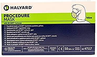 Kimberly-Clark KC-47117 Tecnol Earloop Procedure Mask, Shape, (Pack of 50)