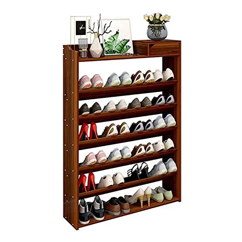 Zapatero Taller de zapatos grande de 7 niveles de pie de pie con cajones zapatos estantería de zapatos de plataforma de almacenamiento de zapatos organizador de zapatos para pasillo de entrada Zapater
