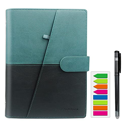 HOMESTEC Smart Notebook Reusable Wirebound Notebook Sketch Pads(Black Green)
