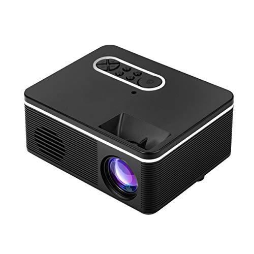 Mini Projector, Draagbare 600 Lumen HD Video Projector Met Infrarood Afstandsbediening, USB HDMI TV Home Theatre-Systeem Met Spreker, LED Pocket Movie Projector Voor Home Media Player,Black