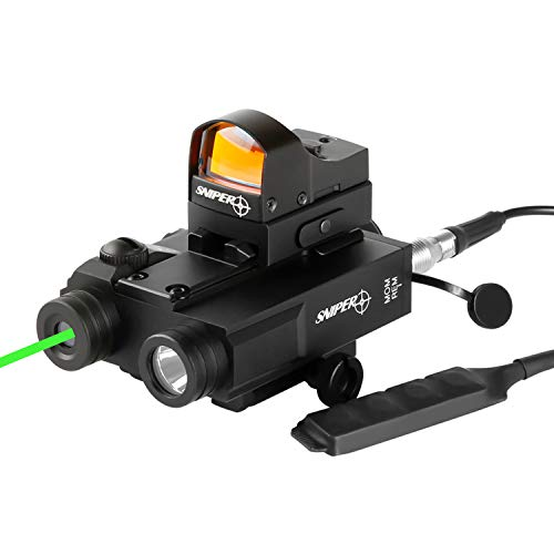 Sniper FL2000R Tactical Laser Sight + 200LM LED Light + Red Dot Sight Combo with Pressure Cord Switch and Quick Release Mount