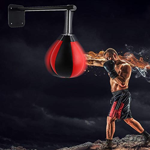 abcd123 Speed Boxing Bags, Speed Balls Boxing Wall Mounted, For Boxing MMA Muay Thai Fitness Or Fighting Sports Training - PU And Genuine Leather
