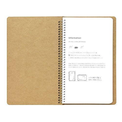 Tan spiral ring notebook Mukei northern polar bear pattern (japan import) Photo #5