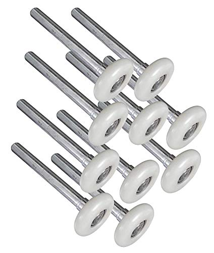 """10Pack Quiet Garage Door Roller,Reinforced Dual Cage,White 2"""" 13 Ball Bearing 4"""" Stem,Reuse More Than 100,000 Cycles"""