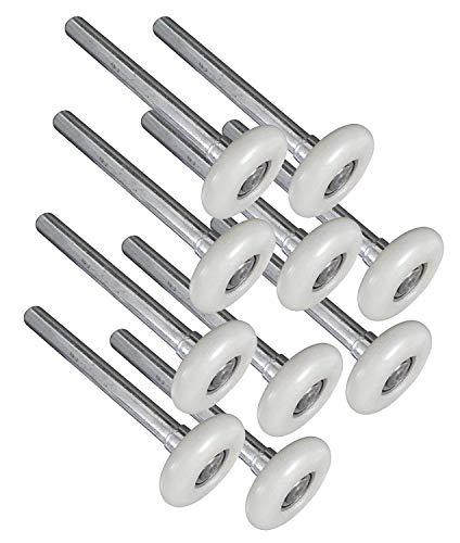 """10 Pack Long Stem 9/"""" Steel Commercial Grade Garage Door Roller"""