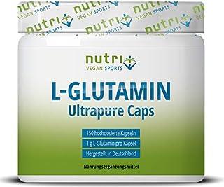 L-GLUTAMIN Kapseln vegan  hochdosiert - 150 Mega Caps - 1000mg pure L-Glutamine pro Kapsel - höchste Dosierung - Fitness & Bodybuilding - pflanzlich - Ultrapure ohne Zusatzstoffe