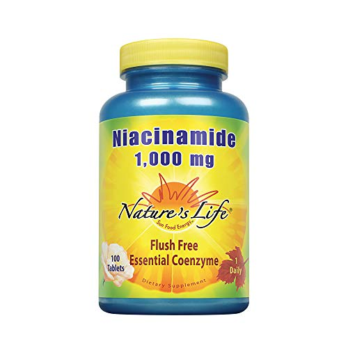 Price comparison product image Nature's Life Niacinamide,  1000 mg / Non Flushing Vitamin B3 Niacin Supplement / 100 Vegetarian Tablets