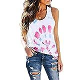 Camiseta de Mujer Americana Tops Personalidad Tie-Dye Impresión Casual...