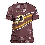 2021 Washington Football Team Jacksonville Jaguars Los Angeles Rams Cincinnati Bengals T-Shirt, Chemise De Rugby, Cadeau Pour Les Fans De Rugby, Lavable En Machine Et Ne Se Décolore Pas,Marron,S