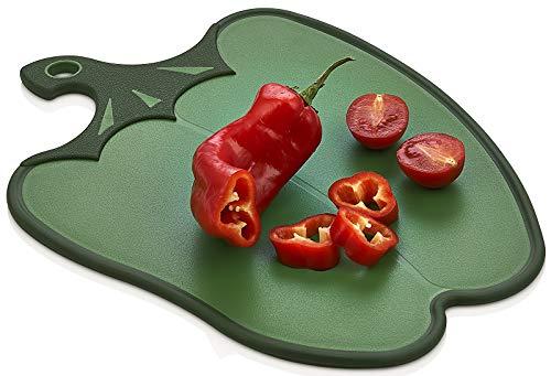 Tok Mark Traders Hobby - Tabla de cortar antideslizante para frutas y verduras hecha de plástico de grado alimenticio para uso en cocina (1 unidad, color verde)