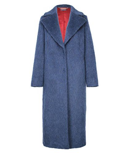TOMMYNOW - Tommy Hilfiger Damen Mantel Cher Wool Coat Blau, Medium