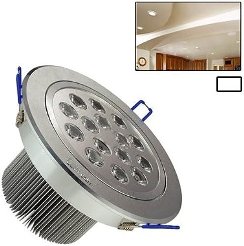 Sevenplusone Ceiling lumières Plafonnier de 15W, 15 LED, 1350LM, Matériau Aluminium de Traction, CA 85V-265V (Lumière Blanche), Puissance  15 x 1W for Home (Couleur   blanc lumière)