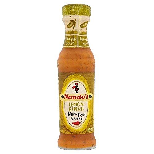 Nandos Lemon & Herb Peri Peri Sauce (125 ml) - Packung mit 2