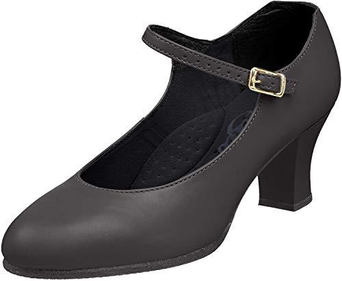 Capezio - Zapatillas para Mujer, Mujer, Luz de pie para Estudiantes, 650-BLK5M, Negro, 35.5 EU