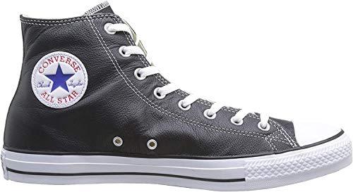 Converse Chucks Taylor All Star Hi Leder, Unisex - Erwachsene Sneaker, Schwarz (Schwarz), 39 EU