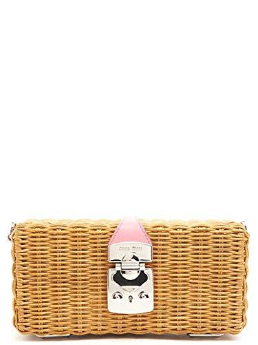 Miu Miu Luxury Fashion Damen 5BF0822BVUF0YKG Beige Andere Materialien Schultertasche | Jahreszeit Outlet